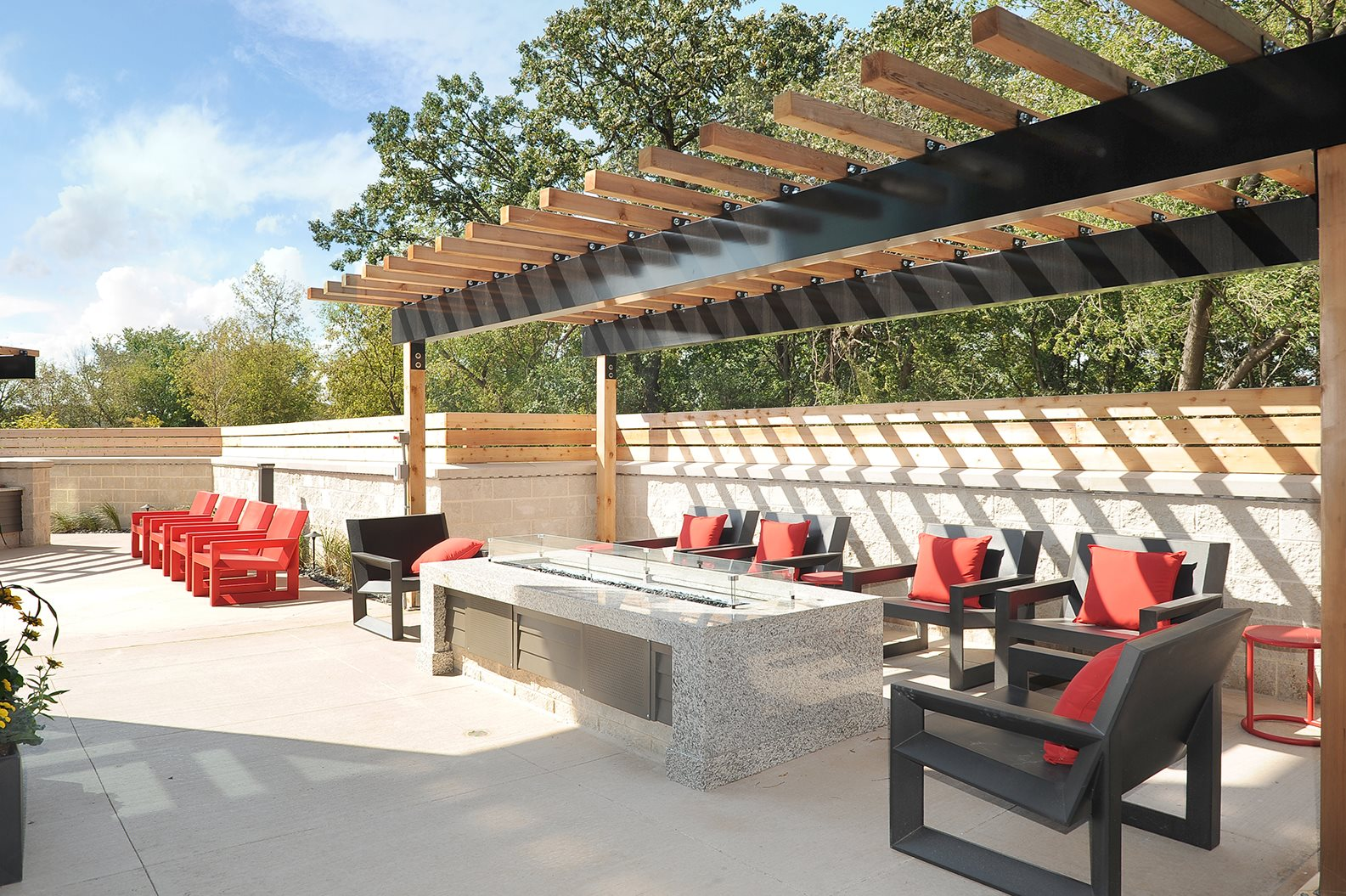 Outdoor Entertainment Area at Red44, Rochester, Minnesota