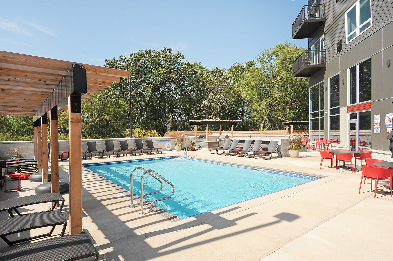 Pool Deck at Red44, Rochester, MN, 55902
