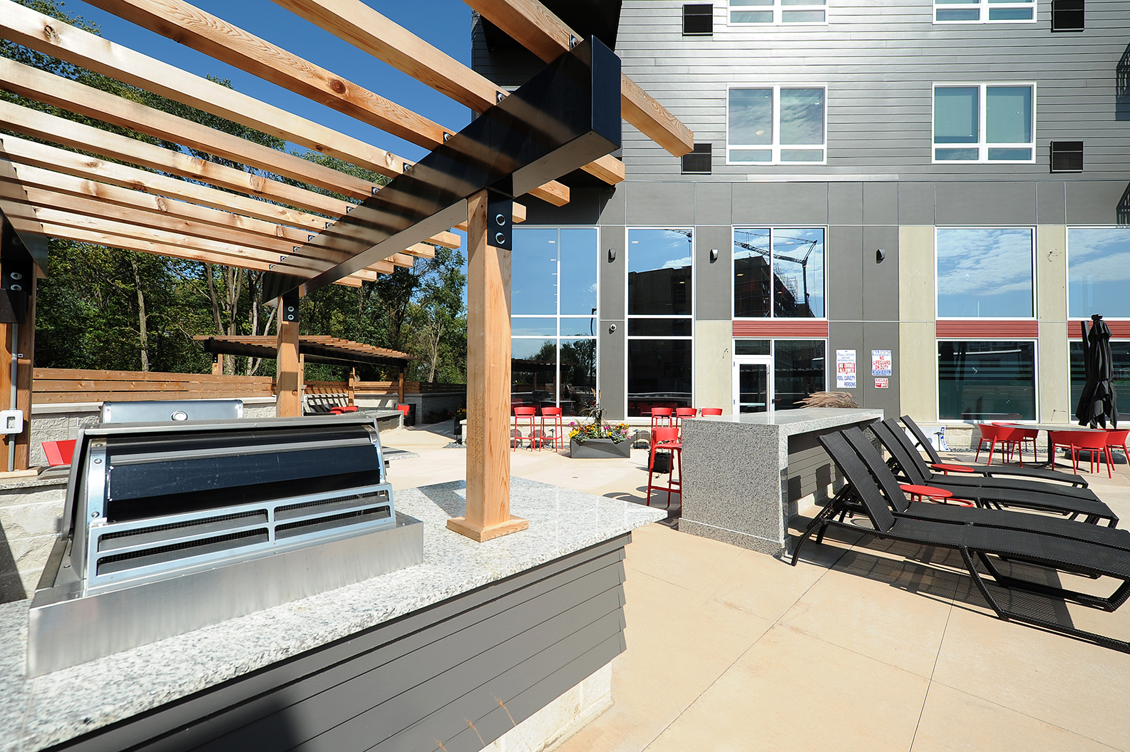 Community Grilling Stations at Red44, Minnesota