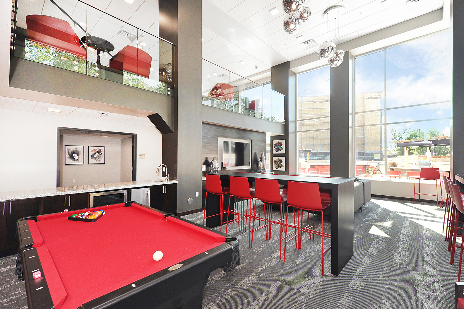 Clubhouse with Billiards at Red44, Rochester