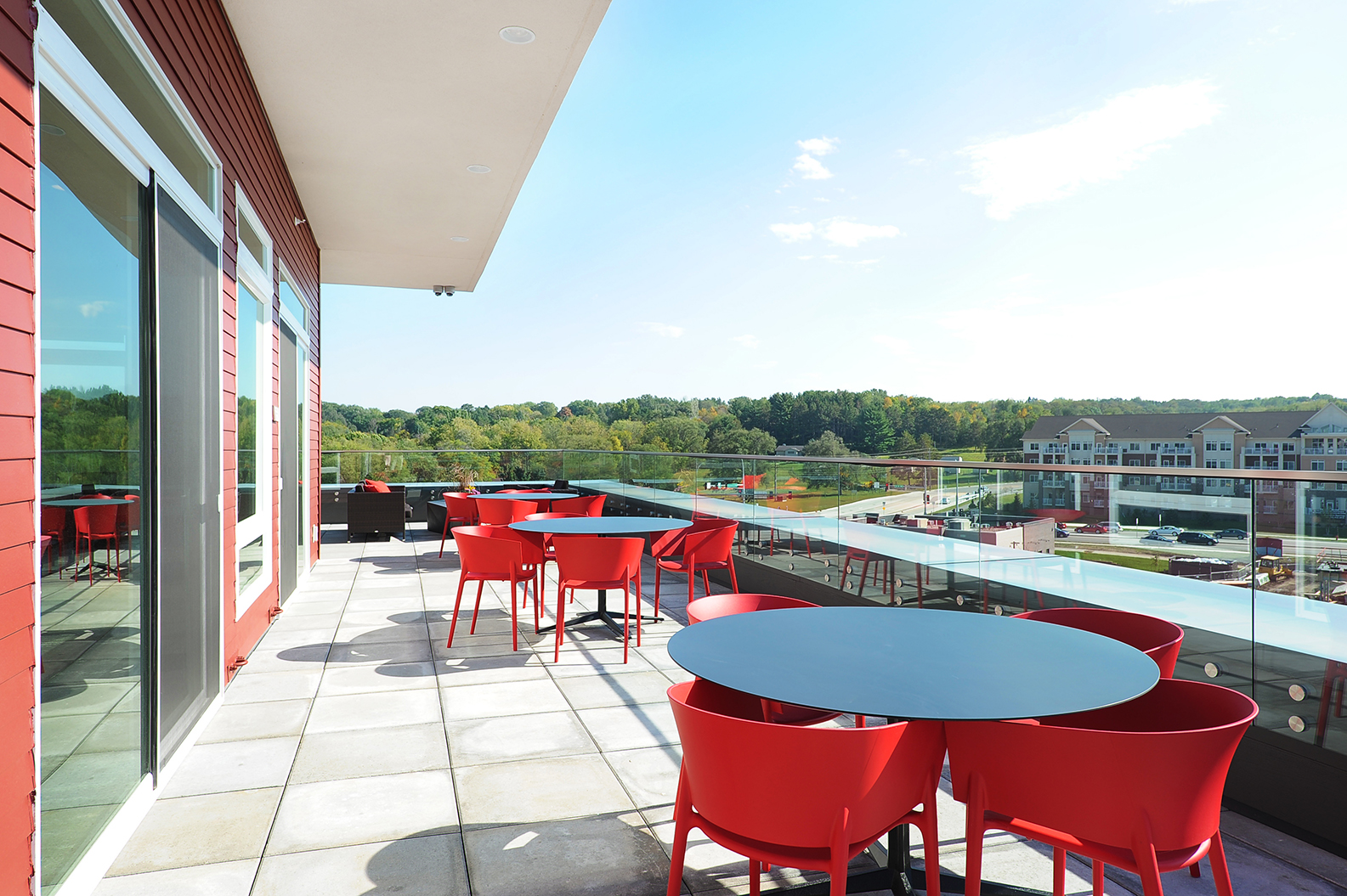 Terrace Lounge with City View at Red44, Rochester, Minnesota