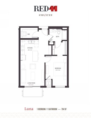 Floor Plan at Red44, Rochester, MN, 55902