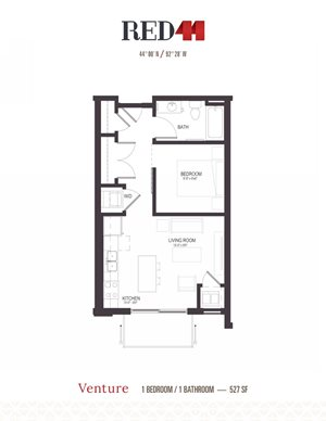 Floor Plan at Red44, Rochester, 55902