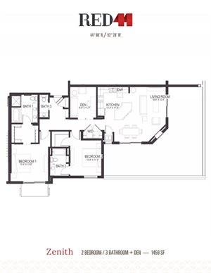 Floor Plan at Red44, Rochester, Minnesota