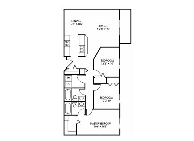 Floor Plan at Wedgewood Park Apartments, Coon Rapids