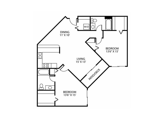 Floor Plan at Wedgewood Park Apartments, Coon Rapids, Minnesota