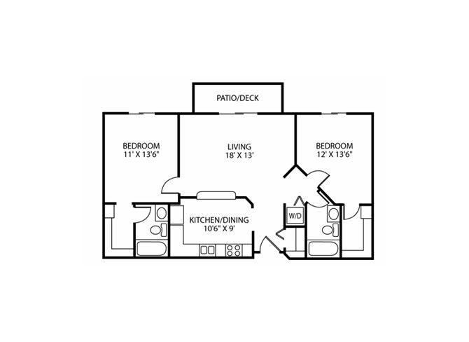 Floor Plan at Wedgewood Park Apartments, Coon Rapids, 55448
