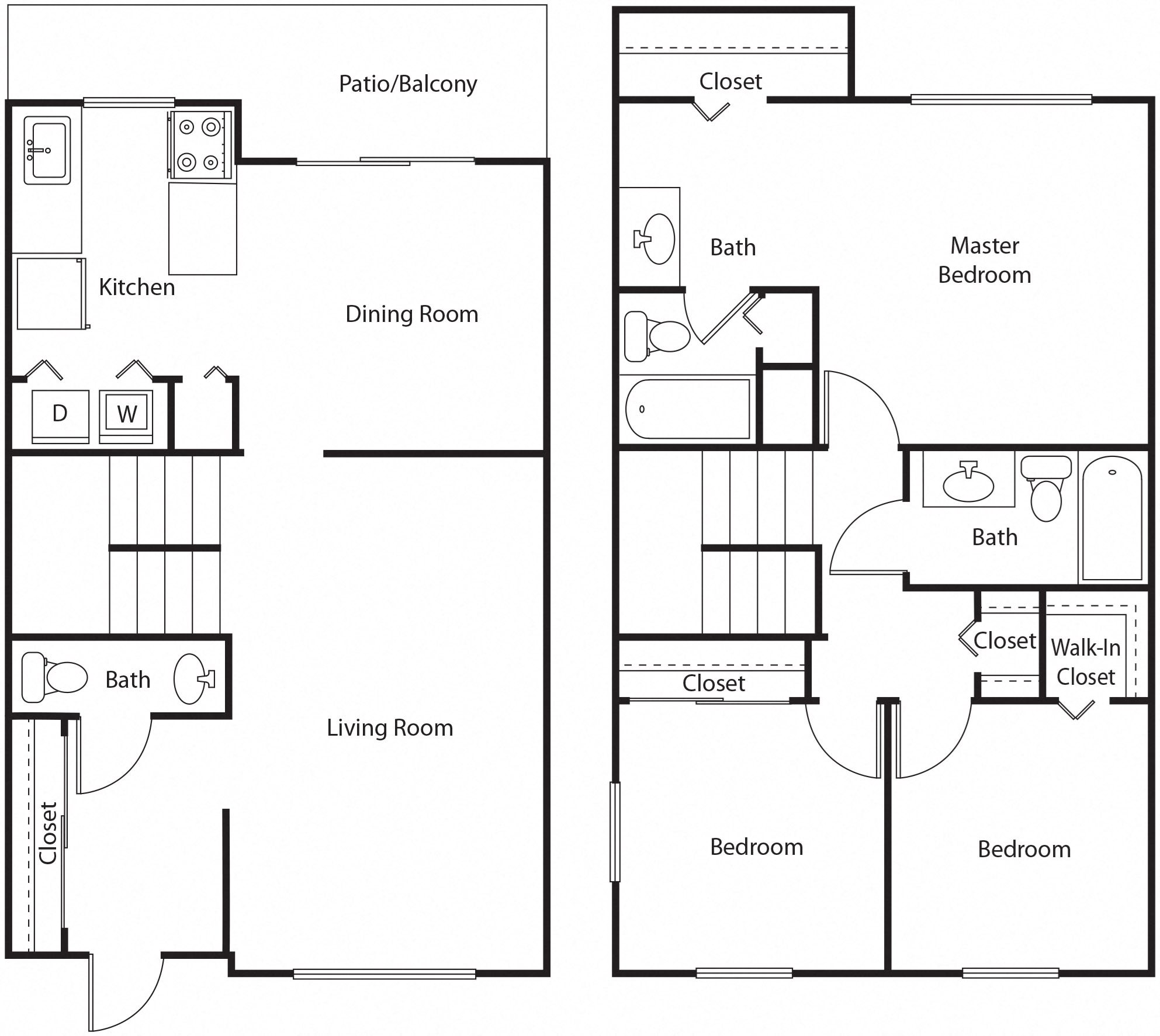 Monarch Homes Floor Plans Floor Plans Of Dunwoody Glen Apartment Homes In Atlanta Ga