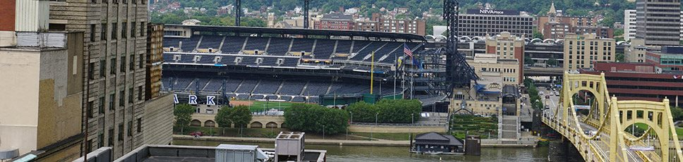 View of Heinz Field from May Building Apartments in Pittsburgh, PA