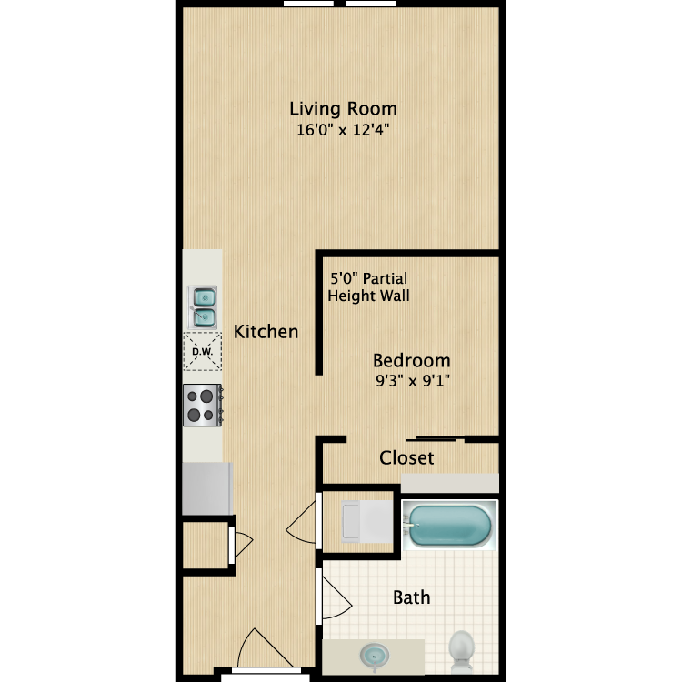 Studio Floor Plan 5