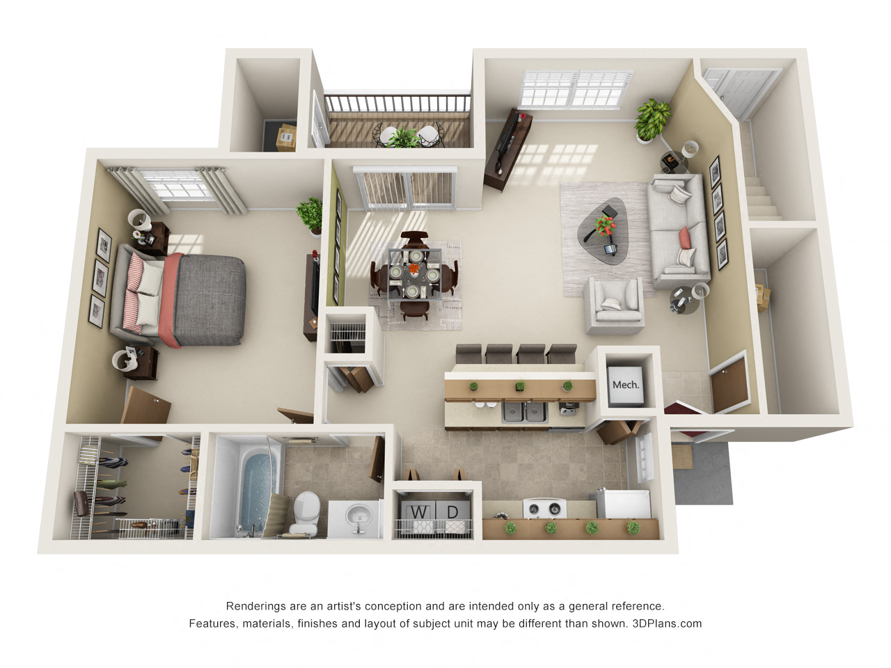Floor Plans of Sunlake Apartments in Fishers, IN