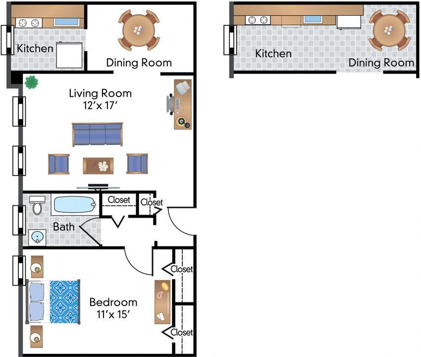 1 Bedroom 08 Tier