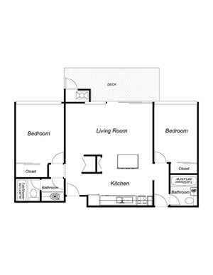 2-Bedrooms, 2-Bathrooms