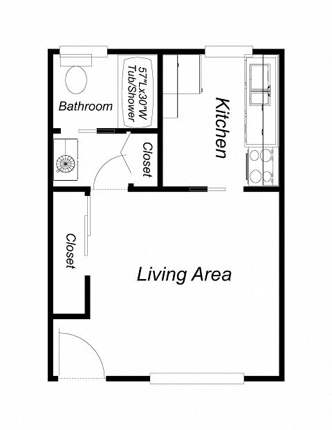 Studio - Upstairs Floor Plan 2