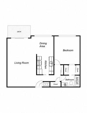 1-Bedroom 1-Bathroom 740(2)