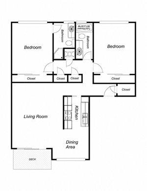 2-Bedroom, 2-Bathroom 1036