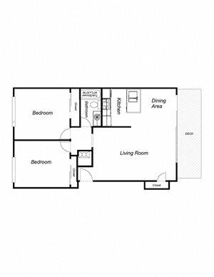 2-Bedroom, 1-Bathroom 960