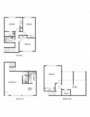 4-Bedroom, 2-Bathroom 1650