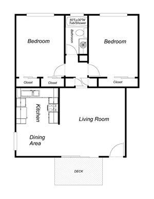2-Bedroom, 1-Bath