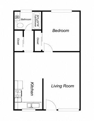 1-Bedroom 1-Bathroom 1
