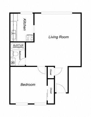 1 bedroom, 1 bathroom 5