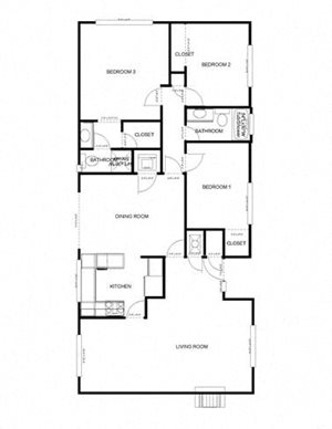 3-Bedroom, 2-Bath