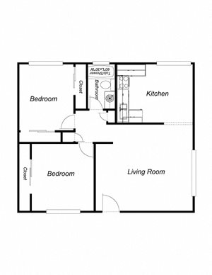 2-Bedrooms, 2-Bathrooms (ad)