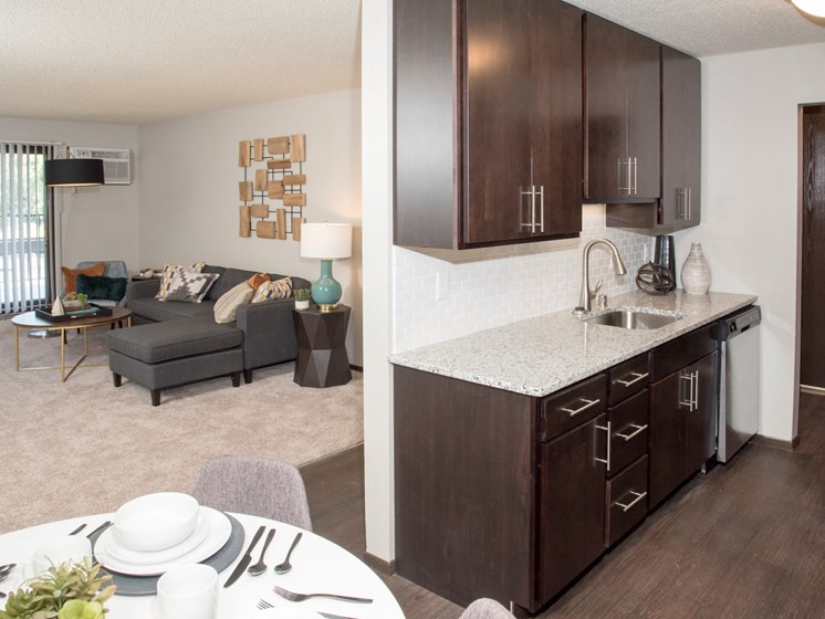 2 BR/1.25 BA - The Willow, new kitchen, granite countertop, tile backsplash