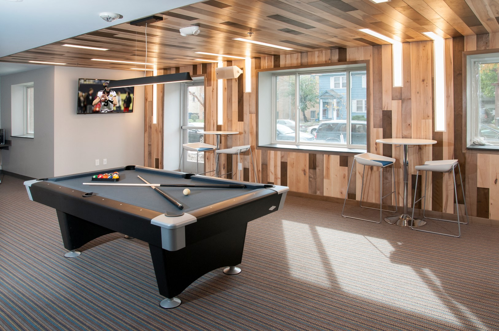 Game Lounge With Billiards At Bierman Place, Minneapolis, MN