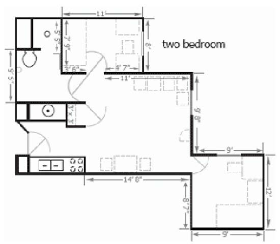Floor plan Bierman Place Apartments in Minneapolis, MN_Park