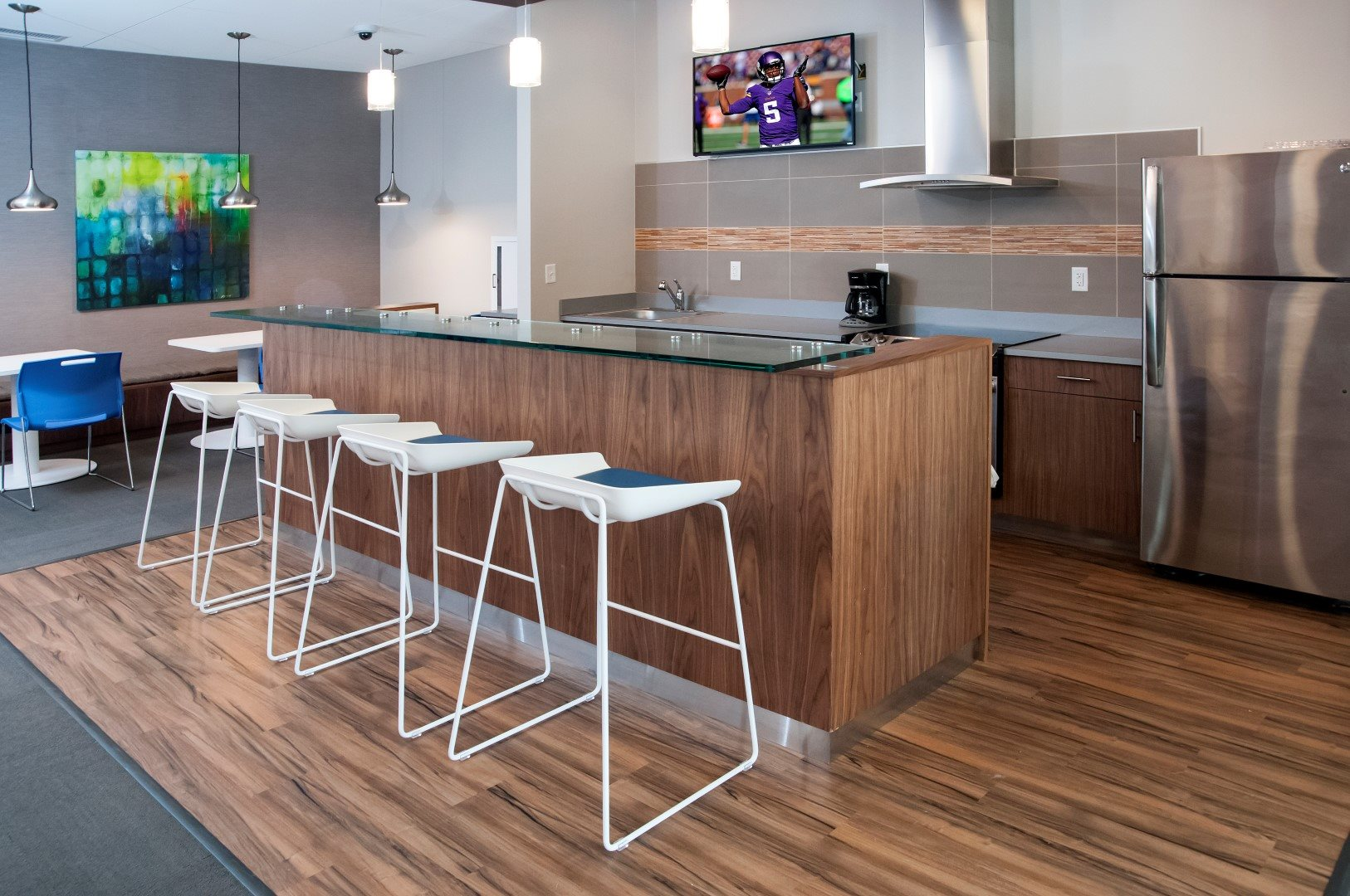 Community Room with Kitchen at Terra Pointe Apartments, St. Paul, Minnesota
