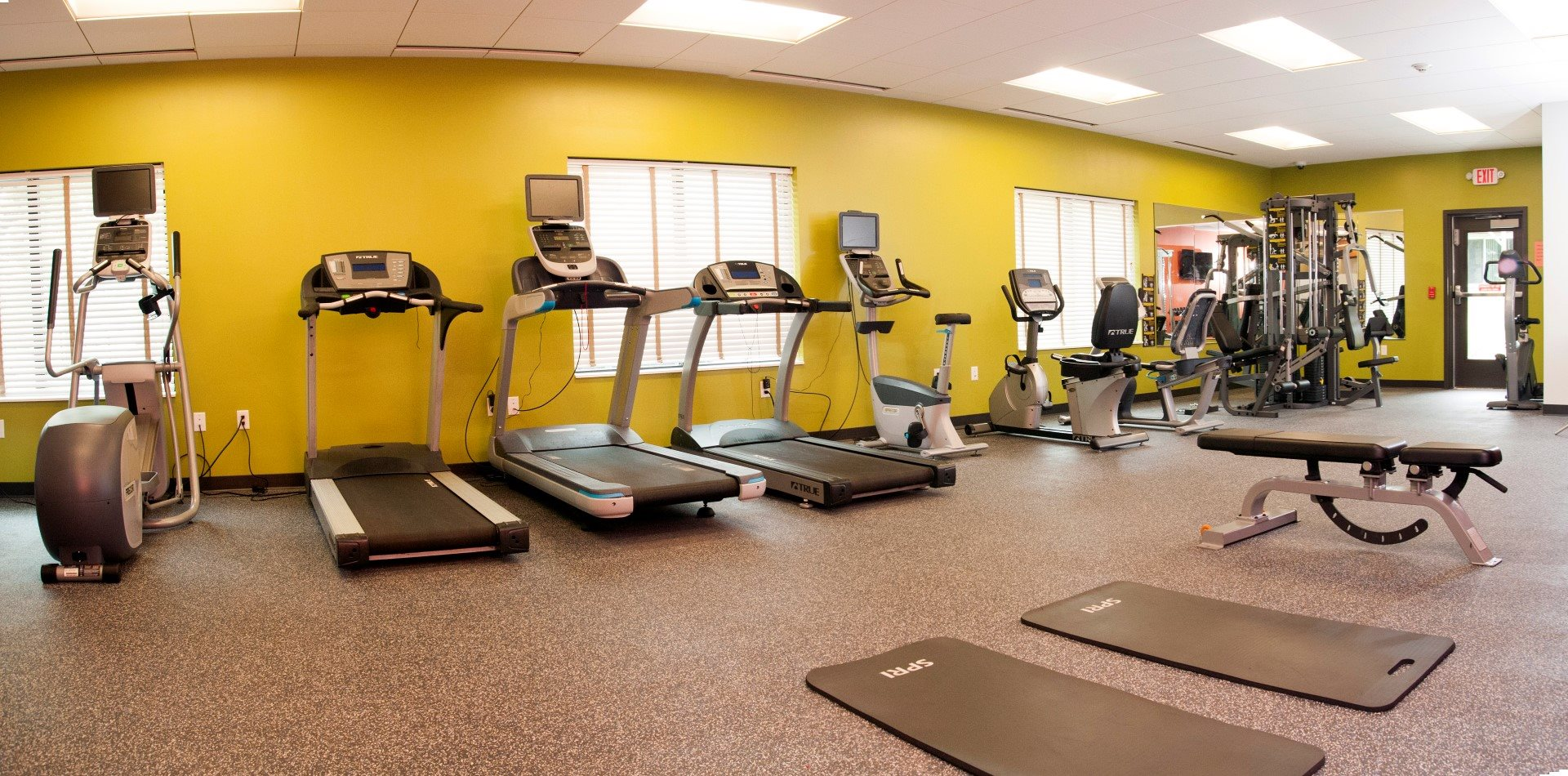 State-of-the-Art Fitness Center with Updated Equipment at Terra Pointe Apartments, St. Paul, MN