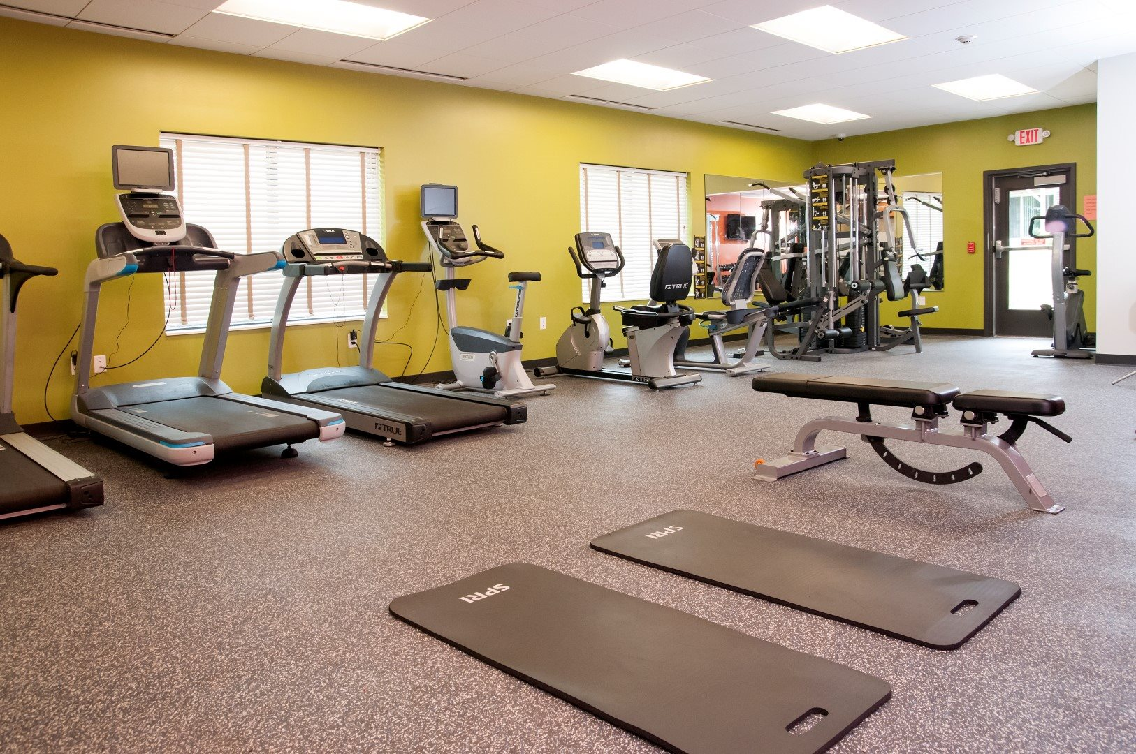 Fitness Center with State of the Art Precor Equipment at Terra Pointe Apartments, St. Paul, Minnesota