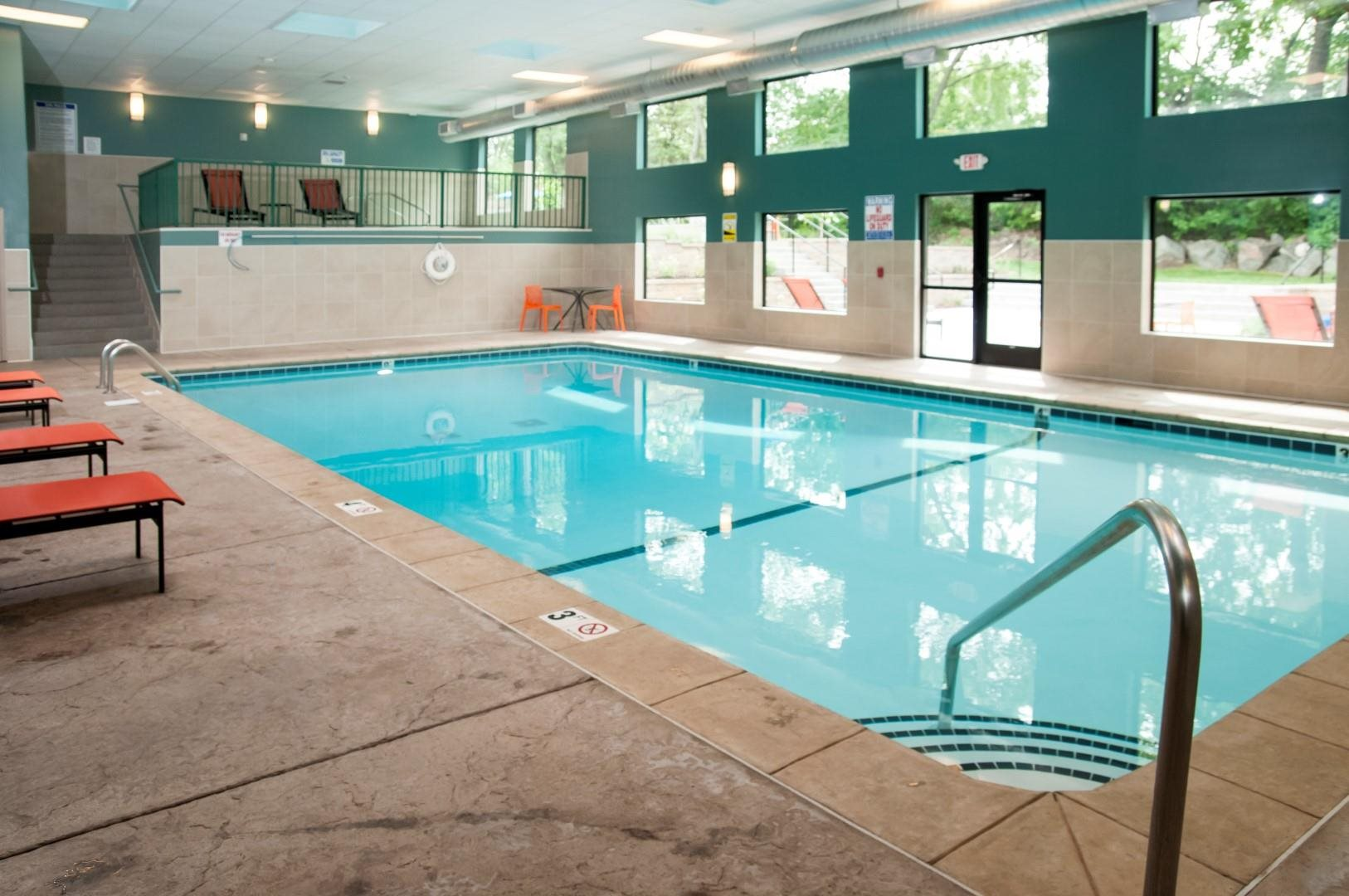 Indoor Pool with Spa at Terra Pointe Apartments, Minnesota
