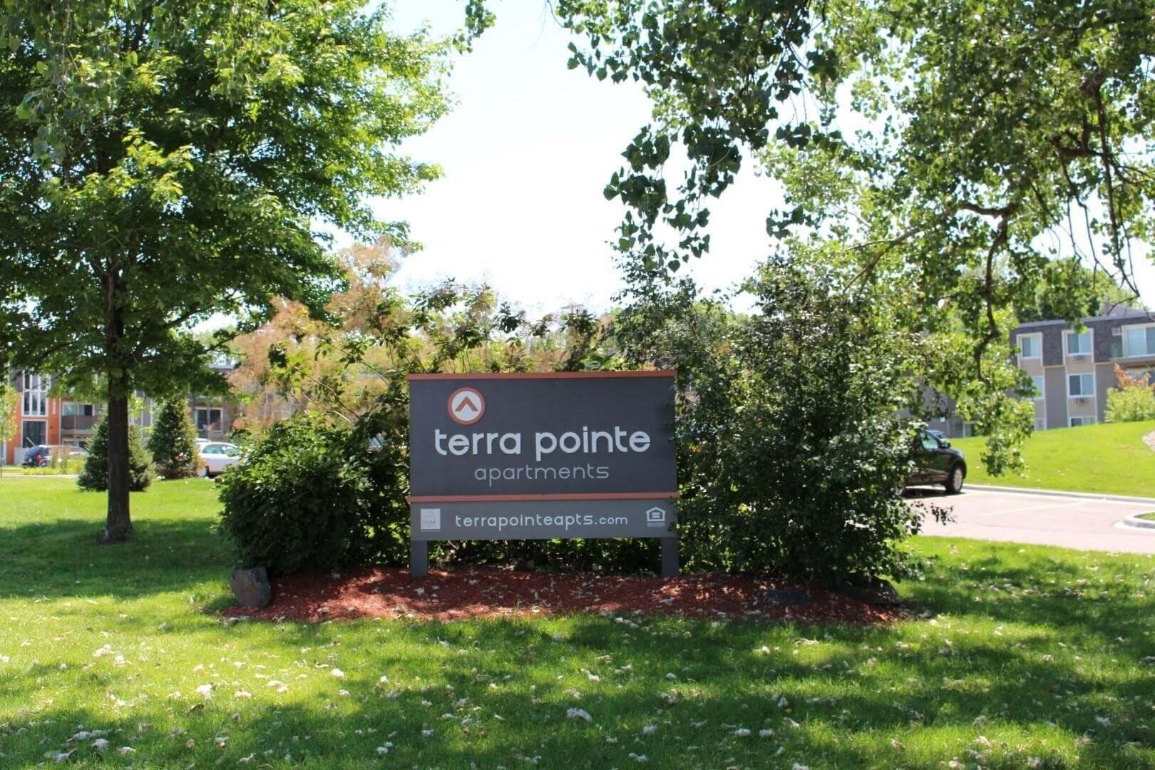 Monument Signage at Terra Pointe Apartments, St. Paul, MN 55119