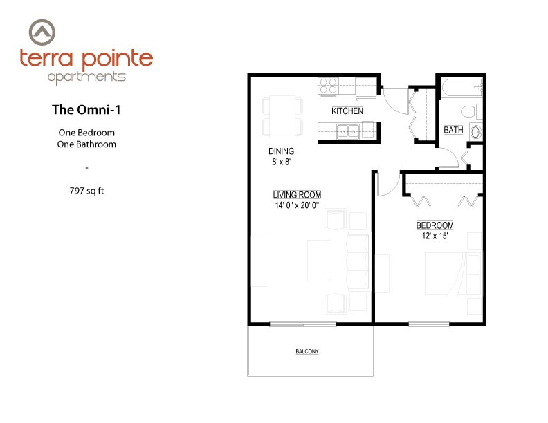 Floor plan at Terra Pointe Apartments, Minnesota