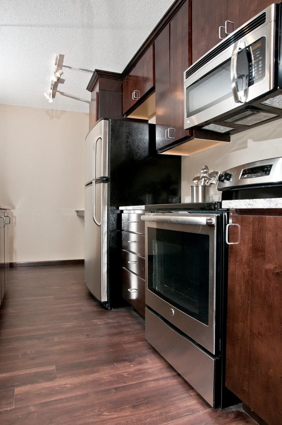 Stainless Steal Appliances in Kitchen of Unit at 2800 Girard