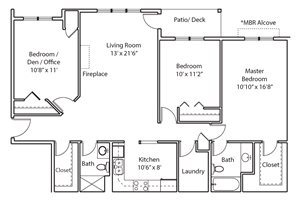 Greystone Heights Apartments in Inver Grove Heights, MN_3 BR Floor Plan