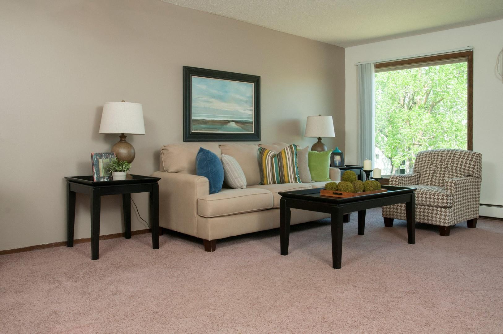Bright Picture Windows At Hillsborough Apartments, Roseville, MN 55113