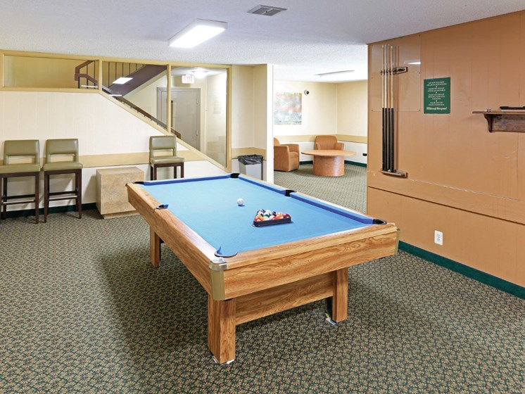 Game Room at Hillsborough Apartments, Roseville, MN