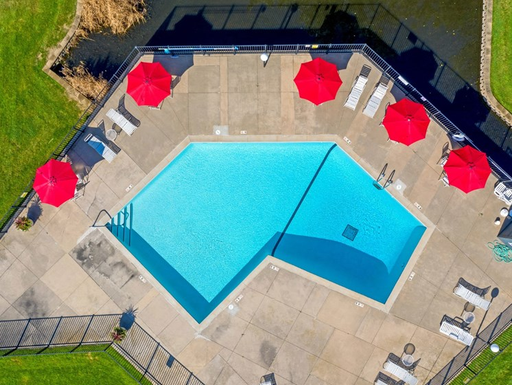 Pool Drone View at Hillsborough Apartments, Roseville, 55113