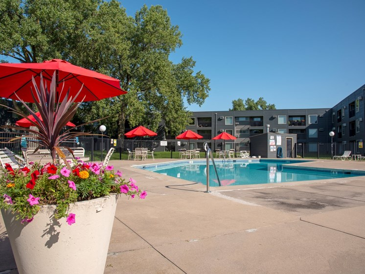 Secured Swimming Pool at Hillsborough Apartments, Roseville, 55113