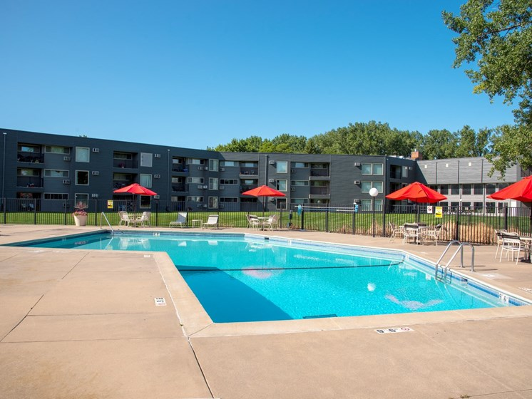Sparkling Swimming Pool at Hillsborough Apartments, Roseville, MN, 55113