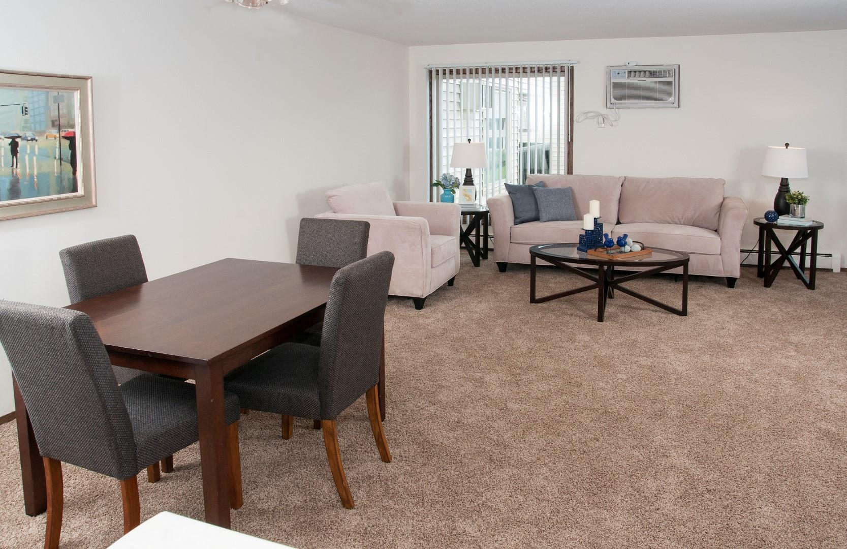 Defined Dining Space at Hillsborough Apartments, Roseville, MN