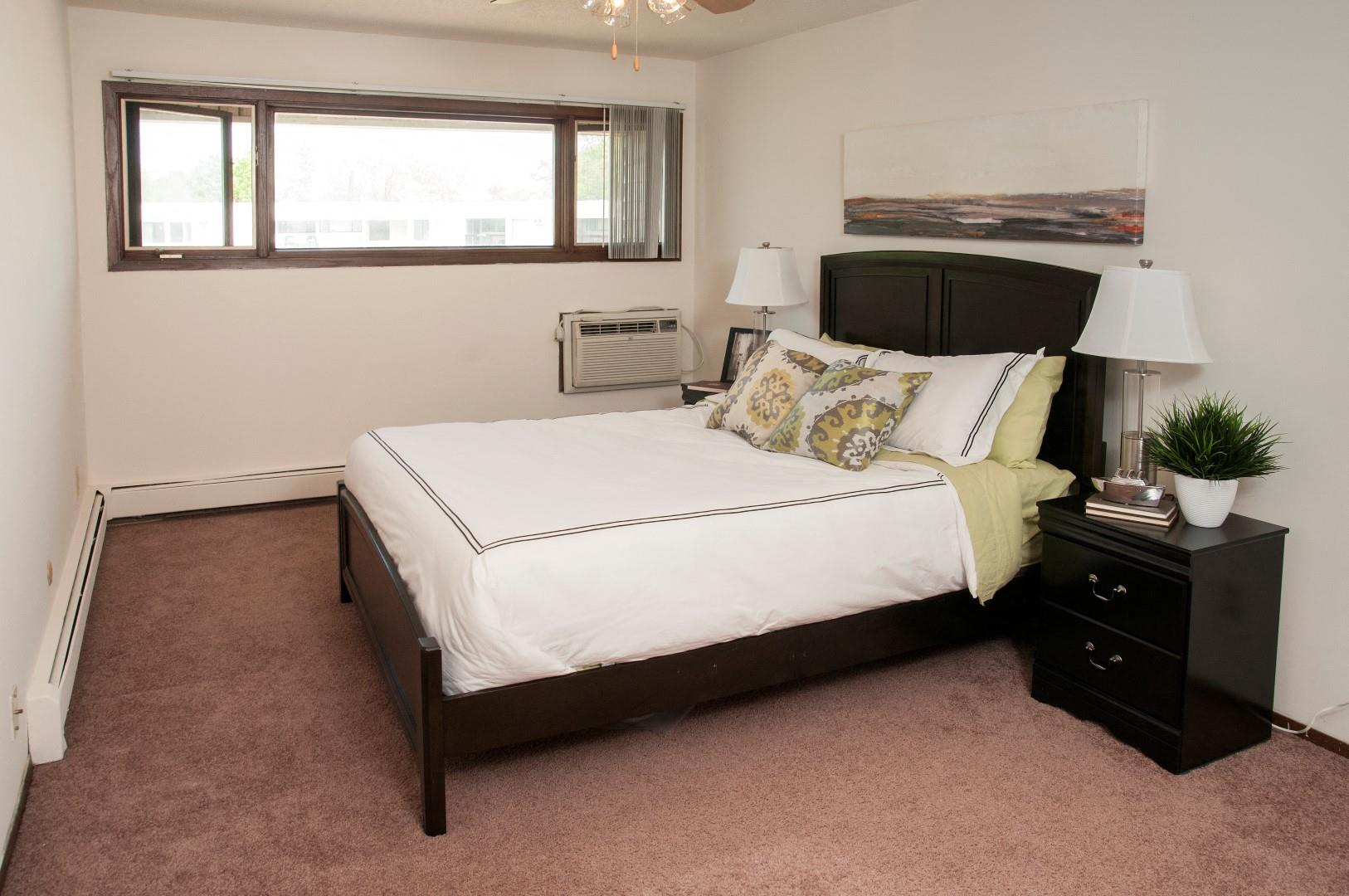 Private Master Bedroom at Hillsborough Apartments, Roseville, MN 55113