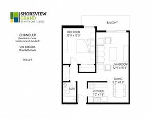 Floor plan at Shoreview Grand, Shoreview, 55126