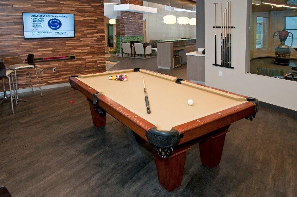 Game Room with Pool Table at Shoreview Grand, Shoreview, MN 55126