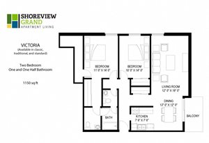 Floor plan at Shoreview Grand, Shoreview, MN 55126