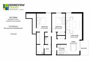 Floor plan at Shoreview Grand, Shoreview, MN