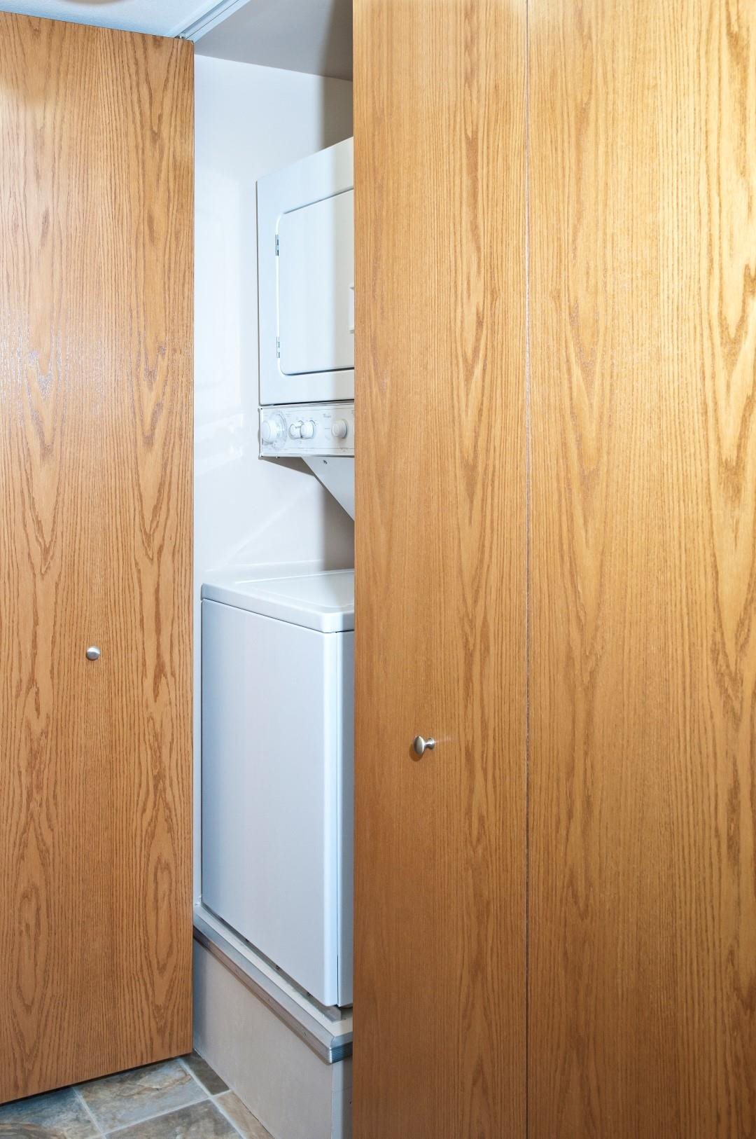 In- Unit Washer and Dryer at Boulevard 100 Apartments